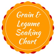 grain and legume soaking chart