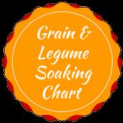 grain and legume soaking chart